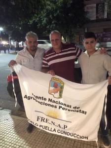 Marcelo Puella junto a nuestros referentes en Chaco.