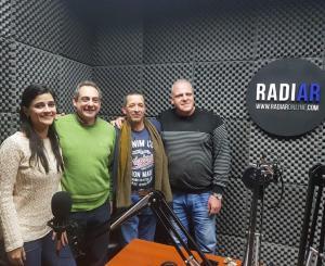 Marcelo Puella, Carlos Grande, Alcides Balbuena y Carmela Moreau en RadiarOnLine