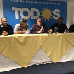 Marcelo Puella habla en el acto del FRENAP (Mar del Plata 26/09/2019)