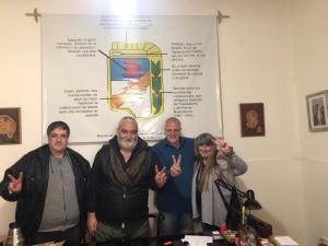 Marcelo Puella con autoridades de PJ de General Pueyrredon (Mar del Plata 27/09/2019)
