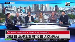 Marcelo Puella en A24, analizando la crisis en Chile (29-10-2019)