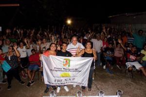 Acto del Frente Nacional de Agrupaciones Peronistas en el Barrio Kennedy de Santiago del Estero. 12-03-2020