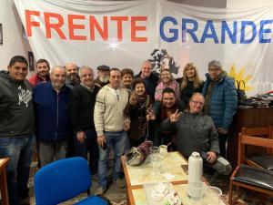 Marcelo Puella visita el Frente Grande en Mar del  Plata (junio 2019)