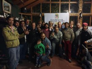 Marcelo Puella con compañeros del FRENAP de Miramar