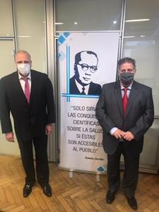 Marcelo Puella reunido junto a Alejandro Collia Secretario de Gestión de Servicios e Institutos del Ministerio de Salud de la Nación
