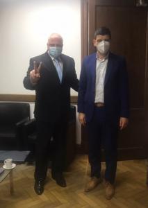 Marcelo Puella junto con Arnaldo Medina, Secretario de Calidad en Salud del Ministerio de Salud de la Nación